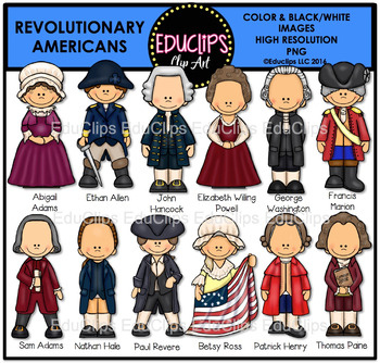 Revolutionary Americans Clip Art Bundle