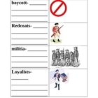 Revolutionary War Vocabulary Matching Game (designed for L