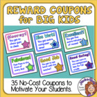 Reward Coupons (for Bigger Kids)