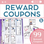 Reward Coupons for Classroom Managements! 216 pages!
