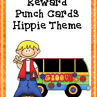 Reward Punch Cards Hippie Theme