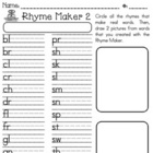Rhyme Maker 2 - with alphabet letters