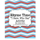 "Rhyme Time: ""I Have, Who Has"" Activity for Rhyming Words"