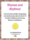 Rhymes and Rhythms!  72 Instant Activities to Teach Favori