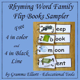 Rhyming Word Family Flip Books Sampler (k-1-2) Freebie
