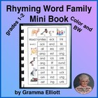 Rhyming Word Family Mini Book - 29 Word Families in Color