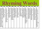 Rhyming Words List