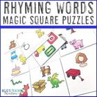 Rhyming Words Magic Square Puzzle