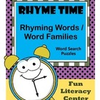Rhyme Time / Rhyming Words / Word Families / Word Search Puzzles