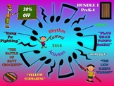 Rhythm/Lummi Stick Activities: Bundle 1: PreK-4: Any Day Songs