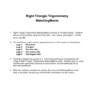 Right Triangle Trig MatchingMania