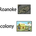 Roanoke Colony Word Wall