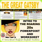 Roaring 20's Introduction/Intro to Gatsby Powerpoint