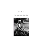 Robert Frost: The Death of the Hired Man