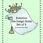 Robot Challenge Cards- SET of 5 (Green)
