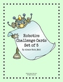 Robot Challenge Cards- SET of 5 (Green Edition)
