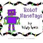 Robot Nametags for Chair Pouches - FREEBIE