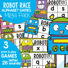 Robot Race Mega Pack - Center Games Single Sounds Alphabet