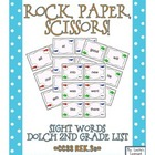 Rock, Paper, Scissors: Dolch 2nd Grade Sight Words