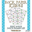 Rock, Paper, Scissors: Dolch Primer Sight Words