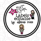 Rock Star Labels editable