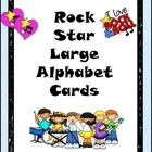 Rock Star Large Alphabet Cards