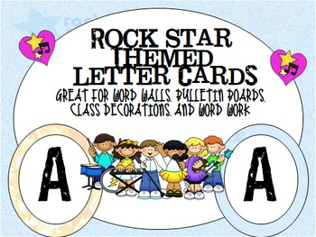 Rock Star Letter Cards