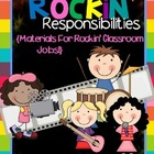 Rock and Roll Classroom Jobs {Rockin' Responsibilities}