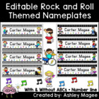 Rock and Roll Themed Nameplate/Deskplate/Nametags