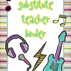 Rock n Roll Theme Substitute Binder