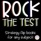 """Rock the Test"" Foldable Lapbook  *can be edited*"