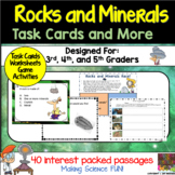 Rocks and Minerals Task Cards and More