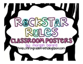 Rockstar Classroom Rules Posters {Large Version}
