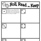 Roll, Read...Keep Game--Third 100 Fry Words