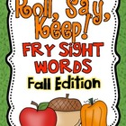 Roll, Say Keep {Fall Fry Sight Words}