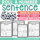 Roll a Number Sentence {2, 3, and 4 Digit Add/Sub} Common