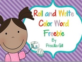 Roll and Write: Color Word Freebie