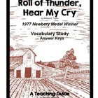 Roll of Thunder Hear My Cry  Vocbulary Study