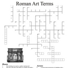Roman Art History Terms Crossword Puzzle