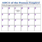 Roman Empire ABCs Worksheet