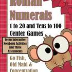 Roman Numeral Center Games and Interactive Notebook Activi