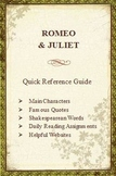 Romeo & Juliet Quick Reference Pamphlet Bookmark