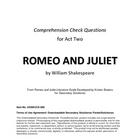 Romeo and Juliet Act Two Study Guide Questions