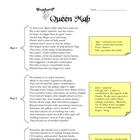 Romeo and Juliet Queen Mab Activity