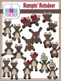 Rompin'' Reindeer Clip Art / Digital Graphics Set