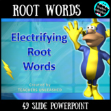 Root Words with the Volt Man - PowerPoint Lesson and Test Prep
