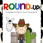 Round-Up! Cowboy Theme Rounding Activities