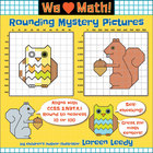 Rounding to the Nearest 10 or 100 Place Value Mystery Pict