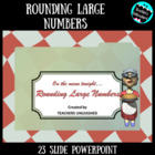 Rounding Large Numbers at Marge's Diner - PowerPoint Lesso