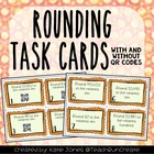 Rounding Task Cards with Self Checking QR Codes  {Common C